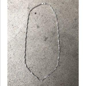 Sterling twisted herringbone chain